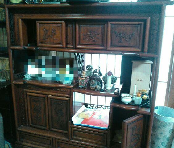唐木の飾り棚